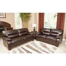 Italian Leather Living Room Sets Abbyson Living Aroma 2 Pc Top Grain Italian Leather Living Room