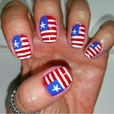 american flag fourth of july nail art