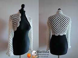 Bolero Jacket Pattern Mesmerizing Crochet Easy Bridal Bolero Jacket Pattern Pdf Crochet Easy Bridal