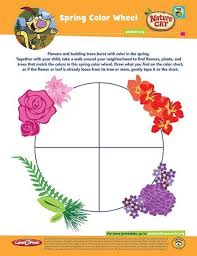 Spring And Fall Color Wheel Kids Coloring Pbs Kids For