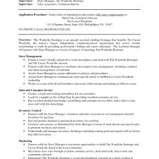 Store Manager Job Description Resume Resume Online Builder