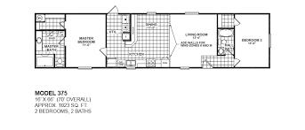2 bedroom 2 bath modular home floor plans. model-375-16x66-2bedroom-2bath-oak-creek-mobile- 2 bedroom bath modular home floor plans m