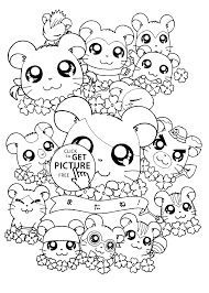 Anime Hamtaro Coloring Pages For Kids Printable Free Coloing