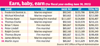 Nypd Salary Chart Fdnys Highest Overtime Earners Arent Putting Out Fires