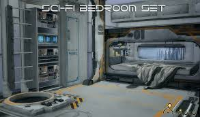 High Tech Bedroom My Sims 4 Blog Ts2 Sci Fi Bedroom Set Conversion By Mimoto Ts4