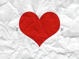 valentine heart wallpaper. Perfect Heart A Crumpled Piece Of Paper That Says I Love You Wallpaper Stock Throughout Valentine Heart H