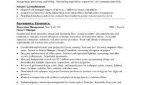Sample Resume For Interior Design Position Inspirational Resume