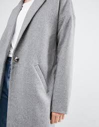 noisy may tall oversized pea coat grey women coats noisy may lace dress 100