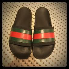 gucci 72 pursuit slides. auth gucci pursuit \u002772 logo rubber slide sandals 72 slides