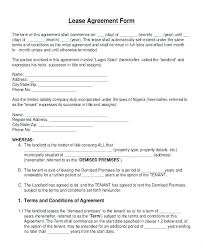 Free Rent Agreement Template House Rental Printable Sample Lease ...