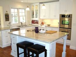 Granite Kitchen Island Table Kitchen Square Light Granite Countertop With Wooden Kitchen