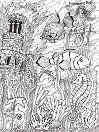 Intricate Coloring Pages For Adults Humming Belles New