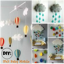 diy felt baby mobile amazing tutorial and pattern