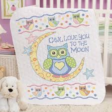 Baby by Herrschners® Owl Love You Baby Quilt Stamped Cross-Stitch ... & Baby by Herrschners® Owl Love You Baby Quilt Stamped Cross-Stitch Kit Was: Adamdwight.com
