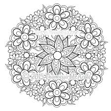 Mandela Coloring Pages Lotus Flower Mandala Coloring Pages Only