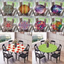details about polyester elastic fitted round tablecover table cloth for home catering cafe