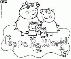 Let your kid colorize and develop! Peppa Pig Coloring Pages Printable Games
