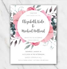Invitation Free Templates Pink Flowers Wedding Invitation Template In Word For Free