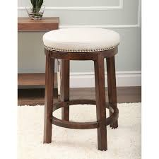 abbyson monica pedersen shawnee round swivel leather backless backless leather counter stools