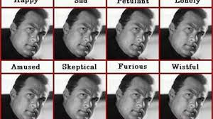 Steven Seagal Emotion Chart Of Emotions Of Steven Seagal