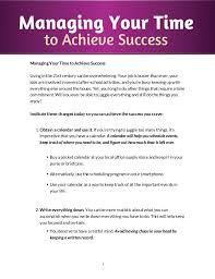 Managing Your Time To Achieve Success