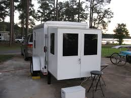 cargo campers swing out the back door and pull out the slide out