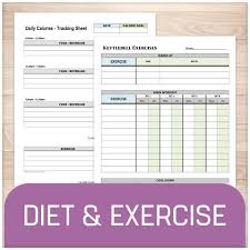 Printable Diet And Exercise Sheets Online At Printable Planning