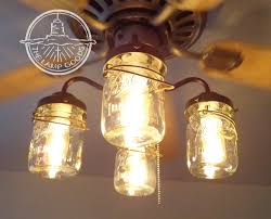 Kitchen Fans With Lights Mason Jar Ceiling Fan Light Kit Only With Vintage Pints