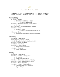 Wedding Itinerary Party Itinerary Template Wedding Complete Imagine Sponsorship Letter 18