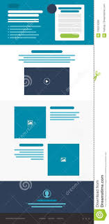 Web Design Website Landing Page Mockup Wireframe Layout Stock Vector