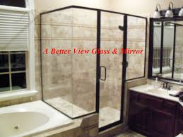 shower glass protection for semi frameless glass shower with two knee walls and a return glass
