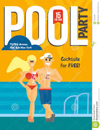 pool party template for poster design stock vector image  pool party template for poster design