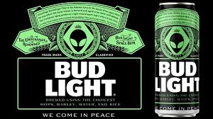 Bud Light Rainbow Cans Bud Light Offers Free Beer To Any Alien That Makes It Out Of