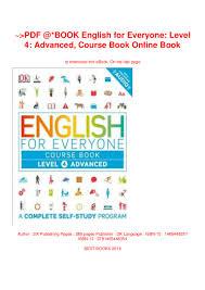 Graphic Design Level 4 Pdf Book English For Everyone Level 4 Advanced Course