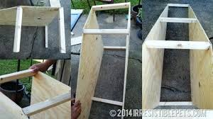 diy dog ramp support beams outdoor plans homemade ramps for stairs over