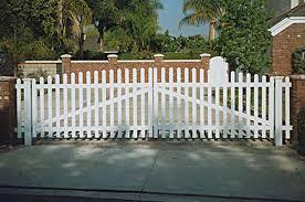 Vinyl Picket Fence Driveway Gates G516 Vinyl Mart Depot