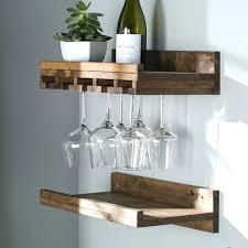 wine glass shelves rustic wall mounted rack chandelier pottery barn v49 rack
