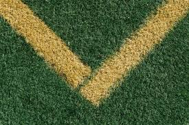 grass field from above. Stock Photo - Yellow Side Line Corner On Green Artificial Grass Turf  Sports Field From Above, Closeup With Details And Shallow Depth Of In Opposing Above