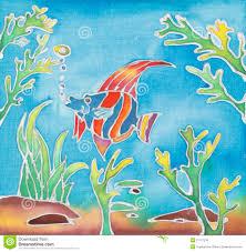 Batik Fish Design Batik Design Stock Image Image Of Textile Backgrounds