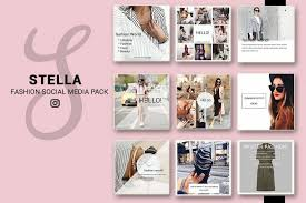 Social Media Design Templates Fashion Social Media Pack Social Media Bundle 20 Square Social