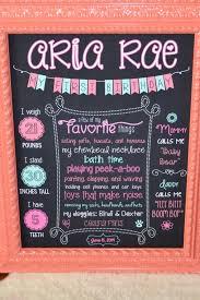 16 16 diy c first birthday chalkboard stats sign