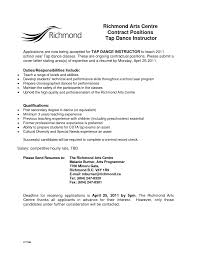Programmer Contract Template With Dance Resume Templates Dance