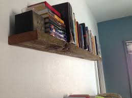picture of super sy floating shelf from barn wood