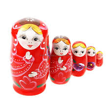 About Other Pictures - Gifts Traditional Russian Wooden Nesting Doll  (5-Piece Set) (Matroshka)