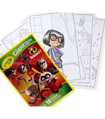We are totally gearing up for this movie. Crayola Giant Coloring Pages Incredibles 2 Joann