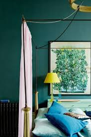 teal blue bedroom wall paint colour