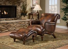 Living Room Chair With Ottoman Furniture Alluring Leather Chair And Ottoman For Cozy Home