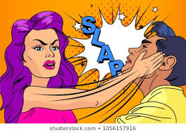 Image result for hot chicks punching cartoon