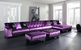 outstanding l shaped purple leather sofa and ottoman coffee table with black bedroom interior sleeper couches