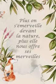 Carnet De Notes Plus On Sémerveille Devant La Nature Plus Elle